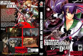 high school high dvd high school of the dead season 01 dvd cover by rapt0r86 on