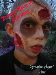 Halloween Kid Makeup by Grandma Agnes U0027 Attic How To Make Your Little Pumpkins Zombies