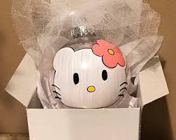 hello kitty ornament etsy