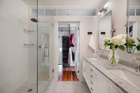 Long Walk Through Closet Design Ideas - Bathroom with walk in closet designs