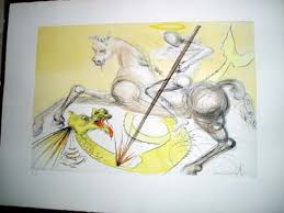 st george and the dragon u2013 salvador dali u2013 dali art web