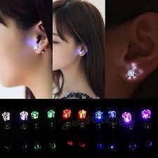 led earrings led earrings light light up bling ear studs party