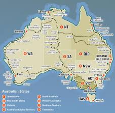 map of australia and oceania countries and capitals australia map