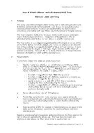 Travel And Expense Policy Sle by Staff Allowances And Expenses Doc