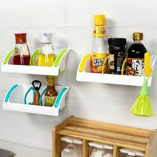 Hanging Bathroom Shelves Useful Kitchen Tools Wall Sucker Edge Plastic Organizer Net Box