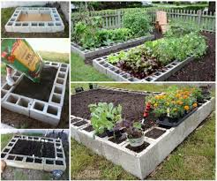 cinder block garden planter