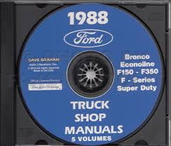 1988 ford truck repair shop manual set f150 f250 f350 econoline