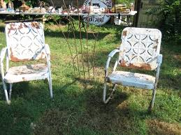 Old Metal Outdoor Furniture by Retro Metal Patio Chairs Under Ground