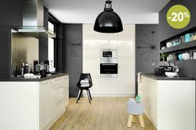 cuisine mur et gris cuisine fly blanche en promo modele spacio plus taupe noir