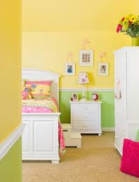 wandgestaltung in grün tipps zur kinderzimmer wandgestaltung mit farbe gelb