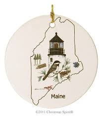maine ornaments maine ornaments lighthouse chickadee