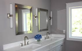 bathroom decoration using soft light grey bathroom wall paint