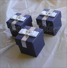 Blue Favors by Boys Navy White Bow Cross Favor Box Baptism By Jaclynpetersdesigns