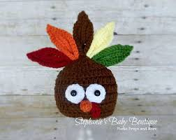 thanksgiving turkey hat baby crocheted photography prop