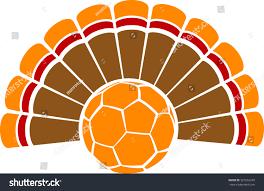 thanksgiving turkey soccer stock vector 327855239