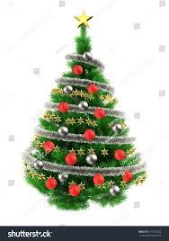 3d illustration green christmas tree over stock illustration