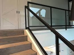 interior glass stair railing ot glass