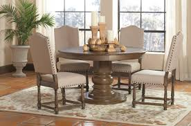 coaster willem 5 piece round single pedestal table set value