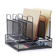 Upright Desk Organizer Rackarster Mesh Desk Organizer With Drawer Vertical