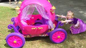 disney princess carriage ride on toy power wheels car at the