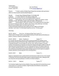 desktop support resume 0n desktop support analyst resume