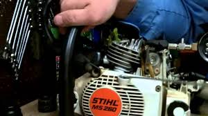 stihl chainsaw compression readings on a new or rebuilt engine