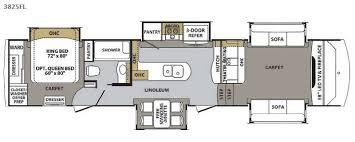 5th Wheel Camper Floor Plans New 2018 Forest River Rv Cardinal 3825fl Fifth Wheel At Big Daddy