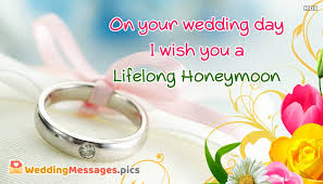 wedding messages to on your wedding day i wish you a lifelong honeymoon