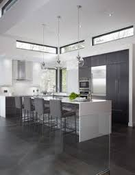Kitchen Design Black And White Modern Black And White Kitchen With Black Pantry Cabinets