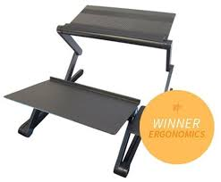 ergonomic lay down desk adjustable ergonomic and portable sit stand desk that works with