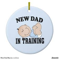 new dad boy ceramic ornament ceramics dads and boys christmas