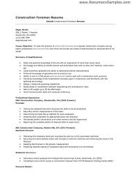 construction general foreman resume plumber resume samples