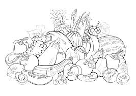 fruits 1 flowers vegetation coloring pages adults