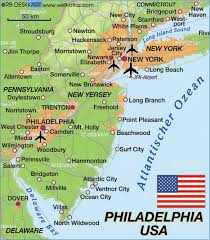 map usa philadelphia map of philadelphia united states usa map in the atlas of the