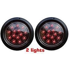 flush mount tail lights amazon com euro red white led combo multi function round stop turn