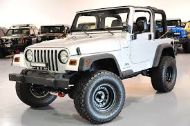 modified white jeep wrangler davis autosports 2003 jeep wrangler sport 55k lifted modified for