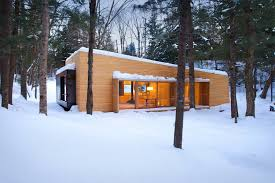 small modern cabin gallery la luge a modern ski cabin in quebec yiacouvakis