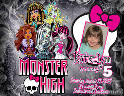 Personalized Memes - monster high personalized photo birthday invitation 2012b 1 09