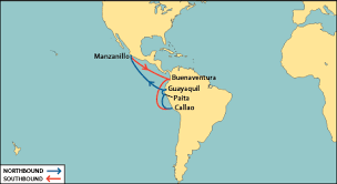 map of mexico south america nyk line msx mexico south america express
