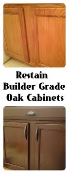 contractor grade kitchen cabinets restain builder grade cabinets general finishes gel stain antique