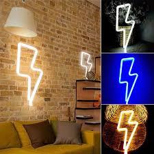 thunder shape wall light hanging lights lightning usb led l for
