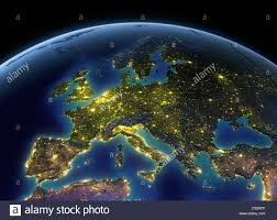 lights on earth europe stock photo 54756570 alamy