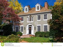 suburb single family house home georgian colonial stock images