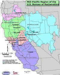 pacific region map bureau of reclamation mid pacific region