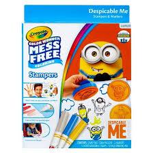 crayola color stamper marker coloring kit despicable