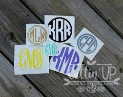 vinyl initials etsy