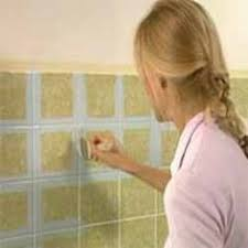 Painting Bathroom Tiles by How To Easily Paint Outdated Tile In Only 2 Steps Amazing Results