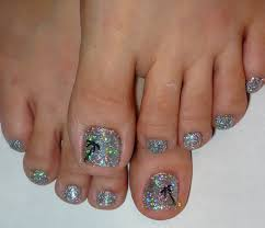 toe nail designs with sparkles best toe glitter nail art design