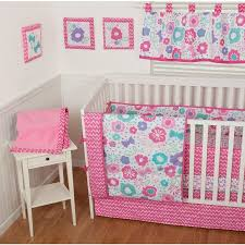 Sumersault Crib Bedding Sumersault Gigi Floral 9 Nursery In A Bag Crib Bedding Set