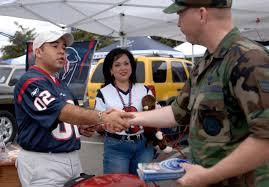 Houston Texans Flags Servicemembers Shine During Nfl Game U003e U S Air Force U003e Article